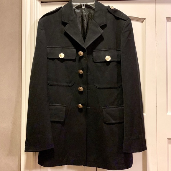 Vintage Navy Sailor Jacket with Gold Buttons